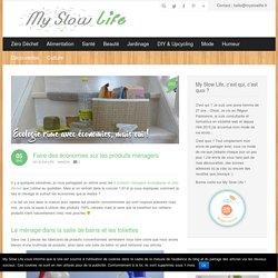 Produits ménagers conventionnels VS écologiques