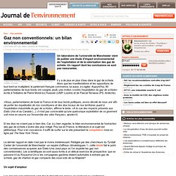 Gaz non conventionnels: un bilan environnemental