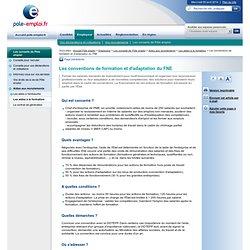 Les conventions de formation et d'adaptation du FNE