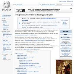 Wikipédia:Conventions bibliographiques