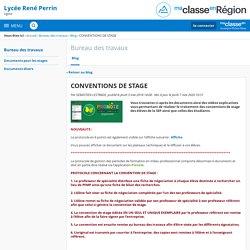 CONVENTIONS DE STAGE - Bureau des travaux - Lycée René Perrin