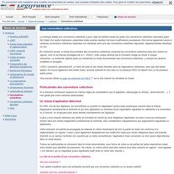 Conventions collectives / Contenus / Bases de données / Accueil ...