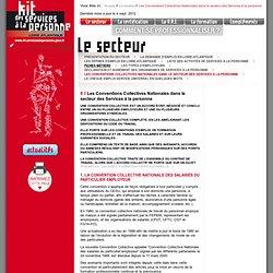 Kit des services à la personne de la Loire Atlantique (44) // Le secteur : Les Conventions Collectives Nationales dans le secteur des Services à la personne