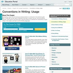 Conventions in Writing: Usage Videos - College Composition Tutorials & Lectures