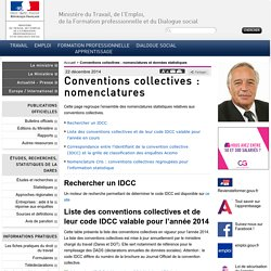Conventions collectives : nomenclatures