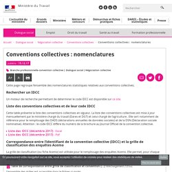 Conventions collectives : nomenclatures - Conventions collectives