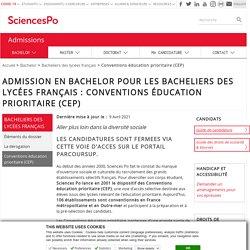 Admission en Bachelor pour les bacheliers des lycées français : conventions éducation prioritaire (CEP)
