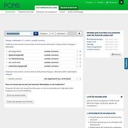 comme convenu : allemand » français : PONS.eu