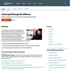 Converged Storage for VMware