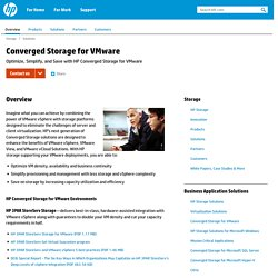 Converged Storage for VMware