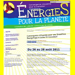Convergence citoyenne pour une Transition Énergétique à Lézan (30-Cévennes) - Convergence citoyenne pour la transition energetique