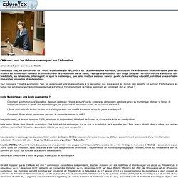 CNNum: tous les thèmes convergent sur l'éducation