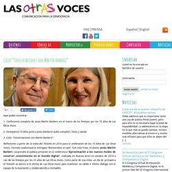 """Ciclo: """"Conversaciones con Martín Barbero"""" Las Otras Voces"""