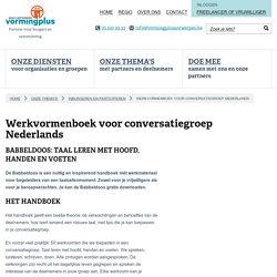 Werkvormenboek voor conversatiegroep Nederlands - Vormingplus, Volkshogeschool regio Antwerpen