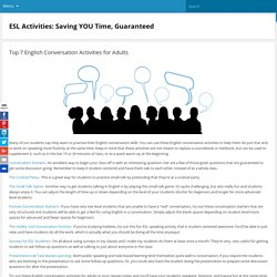 English conversation activities for adults: ESL Activities