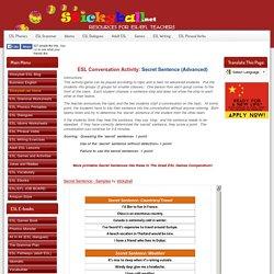 ESL Conversation Activity: Secret Sentence (Advanced)