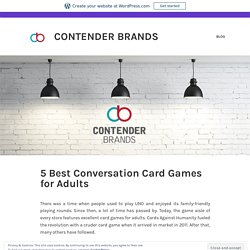 5 Conversation Card Games for Adults