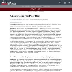 A Conversation with Peter Thiel