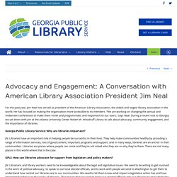 Advocacy and Engagement: A Conversation with American Library Association President Jim Neal