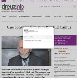 Une conversation avec Renaud Camus