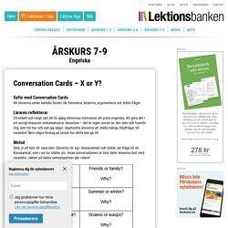 Conversation Cards - X or Y?