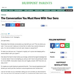 The Conversation You Must Have With Your Sons