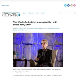 The Would-Be Lyricist: In conversation with NPR's Terry Gross