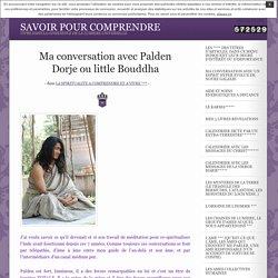 Ma conversation avec Palden Dorje ou little Bouddha