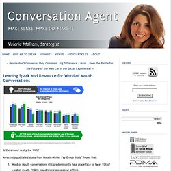 Leading Spark and Resource for Word of Mouth Conversations