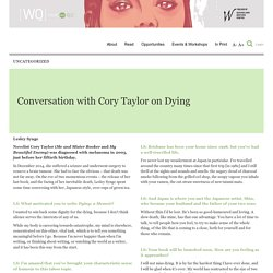Conversation with Cory Taylor on Dying - WQ