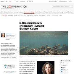 In Conversation with environment journalist Elizabeth Kolbert