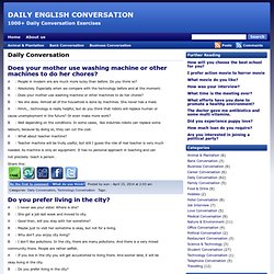 Daily Conversation - 1000+ Daily Conversation Exercises - DAILY ENGLISH CONVERSATION
