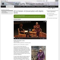 Art on Screen: A Conversation with Agnès Varda