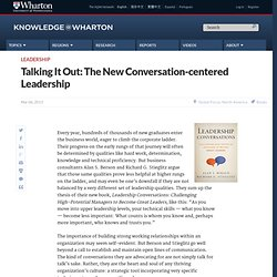 Talking It Out: The New Conversation-centered Leadership