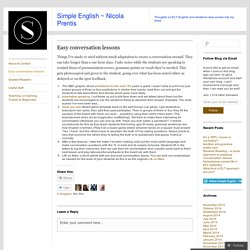Simple English ~ Nicola Prentis