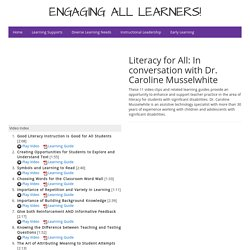 Literacy for All: In conversation with Dr. Caroline Musselwhite