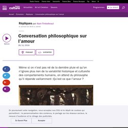 Conversation philosophique sur l'amour