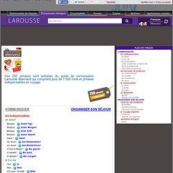 Dictionnaires Larousse - Guide de conversation allemand - communiquer