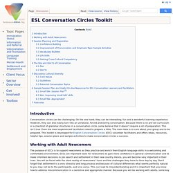 ESL Conversation Circles Toolkit - SettlementAtWork