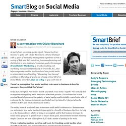 SmartBlog On Social Media » A conversation with Olivier Blanchar