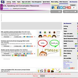 Printable ESL / EAL Resources for Speaking and Conversation