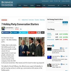 7 Holiday Party Conversation Starters