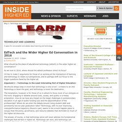 EdTech and the Wider Higher Ed Conversation in 2016
