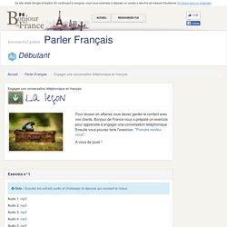 Engager une conversation téléphonique en français