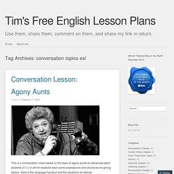 conversation topics esl