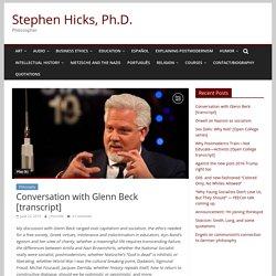 Conversation with Glenn Beck [transcript] – Stephen Hicks, Ph.D.