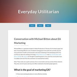 Conversation with Michael Bitton about EA Marketing – Everyday Utilitarian