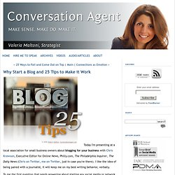Why Start a Blog and 25 Tips to Make it Work