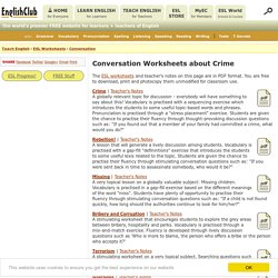 Conversation Worksheets - Crime