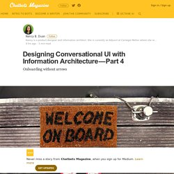 Designing Conversational UI with Information Architecture — Part 4